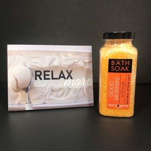 Buff Bomb Bar Bath Soak Orange Scent 16oz